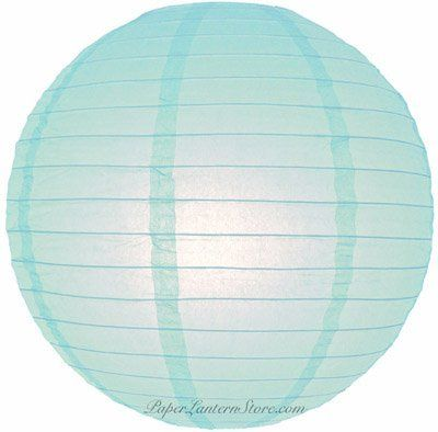 """4"""" Artic Blue Even Ribbing Round Paper Lantern (10 Pack) by Asian Import Store, Inc.. $5.50. Round paper lanterns with a even wire ribbing and held open with a wire expander.. (All lanterns sold without lighting, lighting options must be purchased separately). Sold in packs of 10 Paper Lanterns.. Dimensions: 4"""" dia. Round paper lanterns with a even wire ribbing. Lantern is held open with a wire expander. Sold in packs of 10. So, if you purchase 2 of this item,..."""