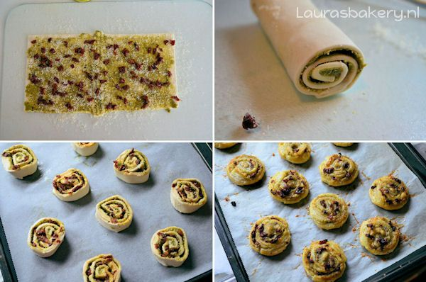 pesto tomaat rolletjes