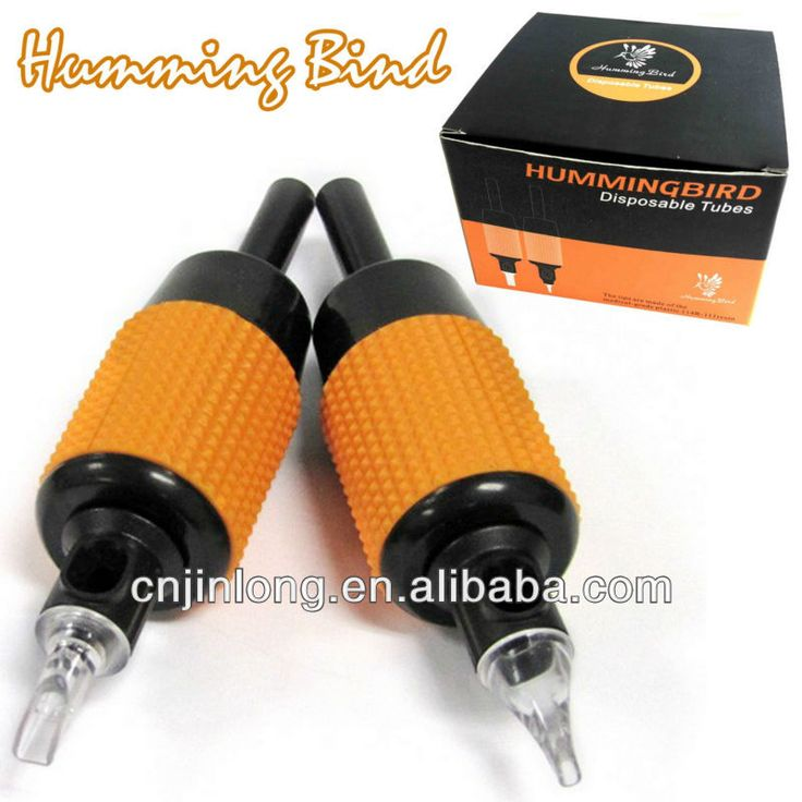 Best Quality Disposable 9 Round Tattoo Grip Humming Bird Tube with clear tip $5.9~$6.5