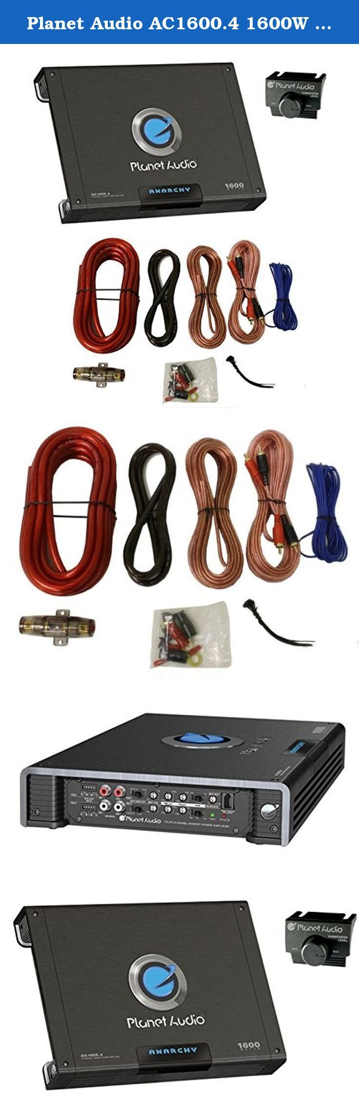 Planet audio ac1600 4 1600w 4 ch amplifier amp kit package