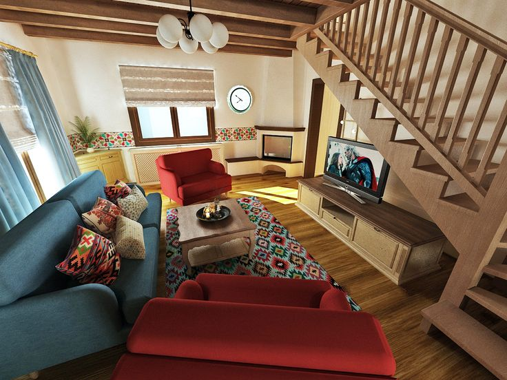 Traditional house - living room