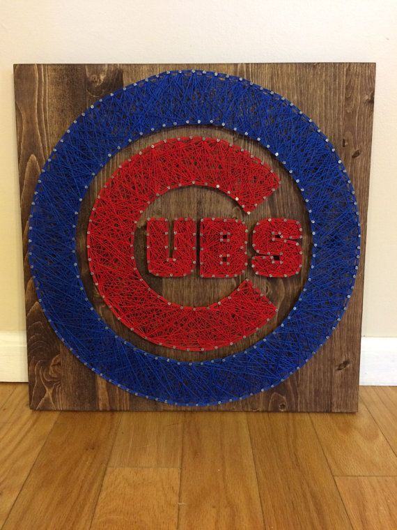 Chicago Cubs String Art by 3HindsDesigns on Etsy