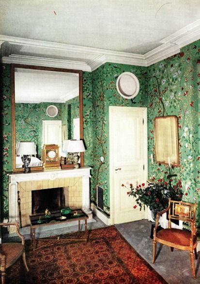 gloria guinness's home in paris, ca. 1950s