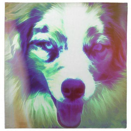 #Joker Cloth Napkin - #australian #shepherd #puppy #shepherds #dog #dogs #pet #pets #cute #australianshepherd