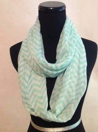 $10.95 Chevron Scarves Short Leash Mint - Kelly Brett Boutique | Women's Online Clothing Boutique