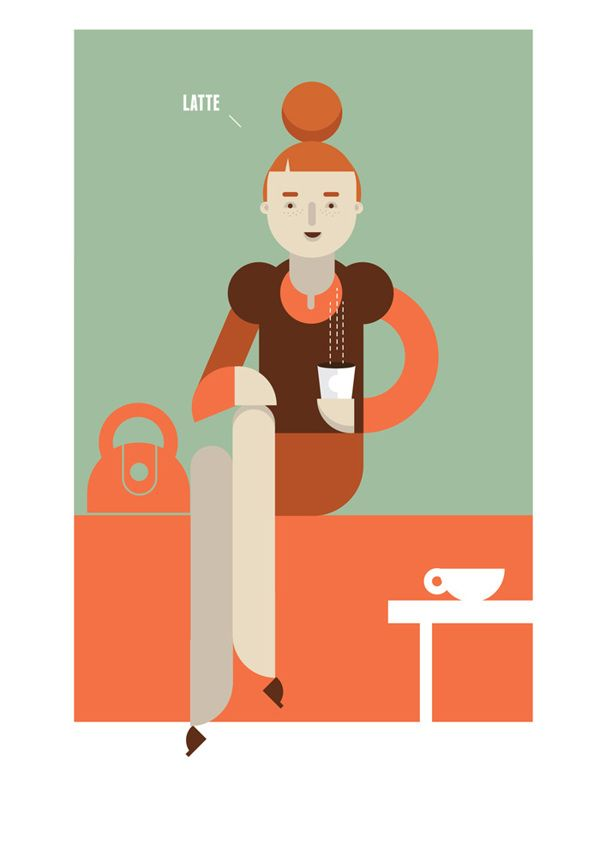 His & Her Coffee  by Dylan Jones, via Behance