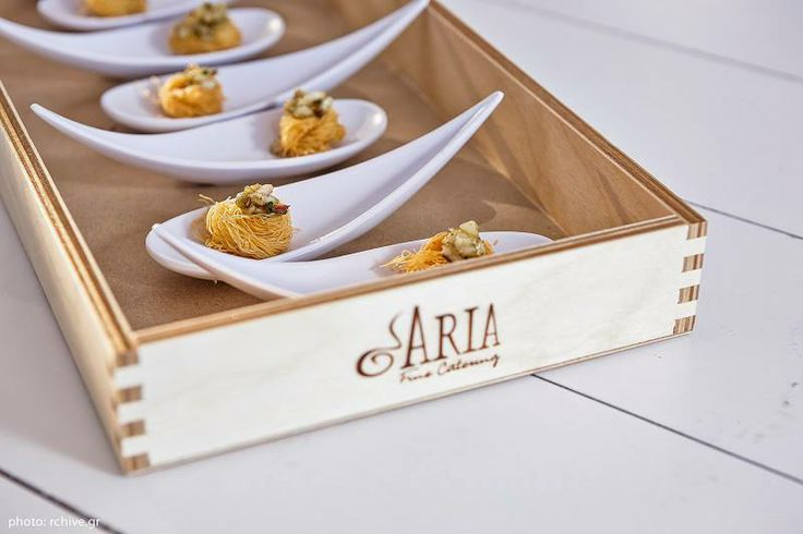 #ARIAFineCatering hosting majestic evenings at Island in Athens. Here heavenly tasty kataifi sweet.