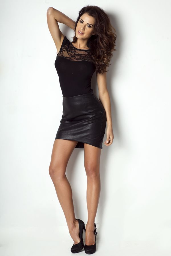 IVON Asymetryczna spódnica z ekoskóry model sp45 ivon-sklep.pl  #skirt #style #fashion #asymmetric #