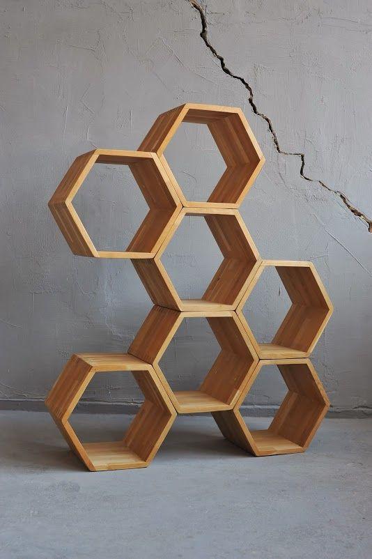 hexagon stacking box display | HONEYS by divadlo