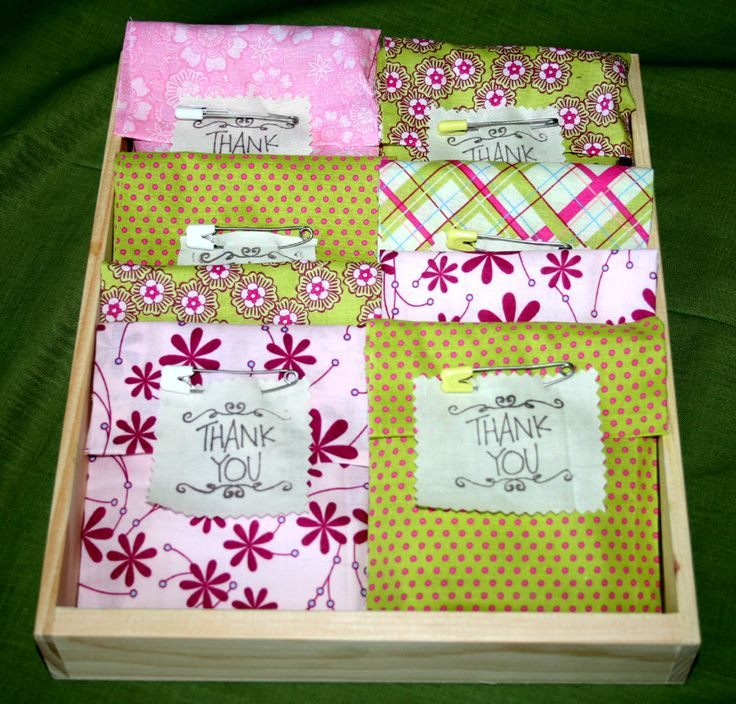 Easy No Sew Fabric Pouches For Baby Shower Favor