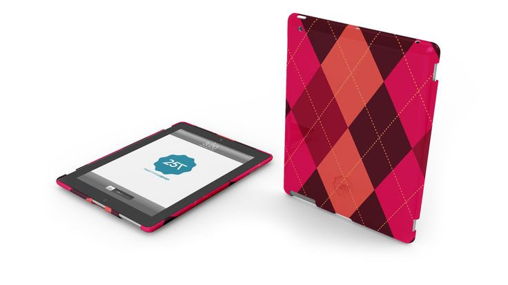 SLIM HARD CASE JACQUARD -  A limited edition hard case for iPad and iPad mini with classic design. Available in many colors and designs.  http://www.twentyfive-seven.com/
