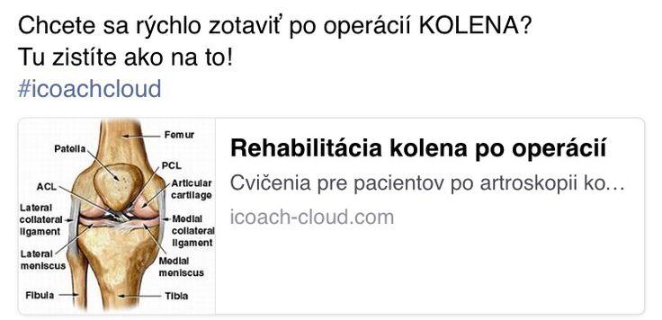 Chcete sa rychlo zotavit po operacii kolena?  Do you want fast recovery after knee operation?  www.icoach-cloud.com