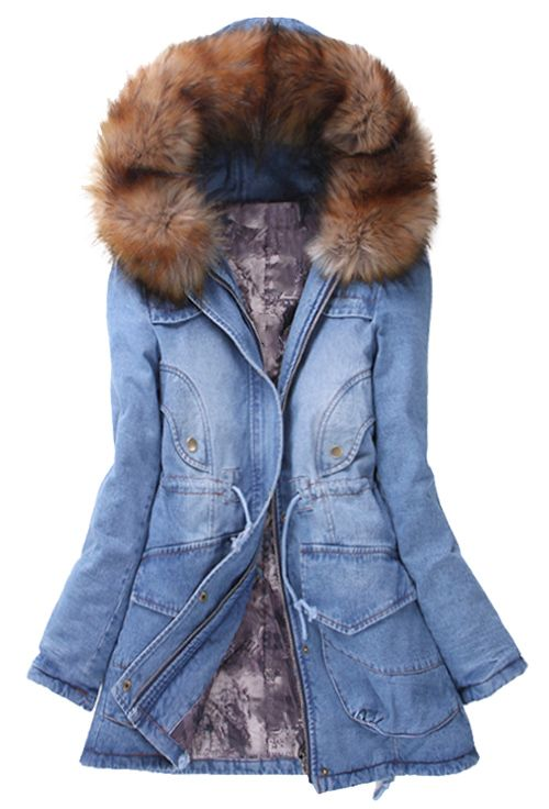 Check this cute and warm coat with fur collar! It is great for cold casual  days. You just need something special.Cozy up this season with this comfy  chic ... f2c881c04c9b