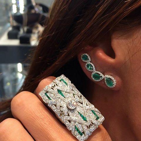 #djulajewelry  #özel bir #tasarim. #zümrüt #pirlanta #yüzük #küpe