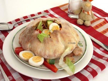 Xandra Bakt Brood - Broodje met verrassing - recept - zelf bakken - ovensteen