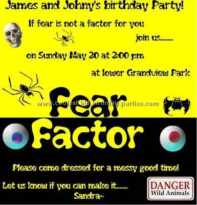 Fear Factor Party Tale