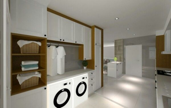 Washing machines anf dryer laundry area