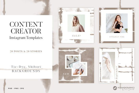 Content Creator Instagram Templates By Youandigraphics On Creativemarket Instagram Template Instagram Grid Post Instagram Post Template
