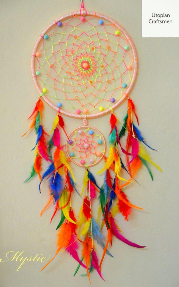 www.utopiancraftsmen.com  #dreamcatcher #home #trippy #nativeamerican #art…