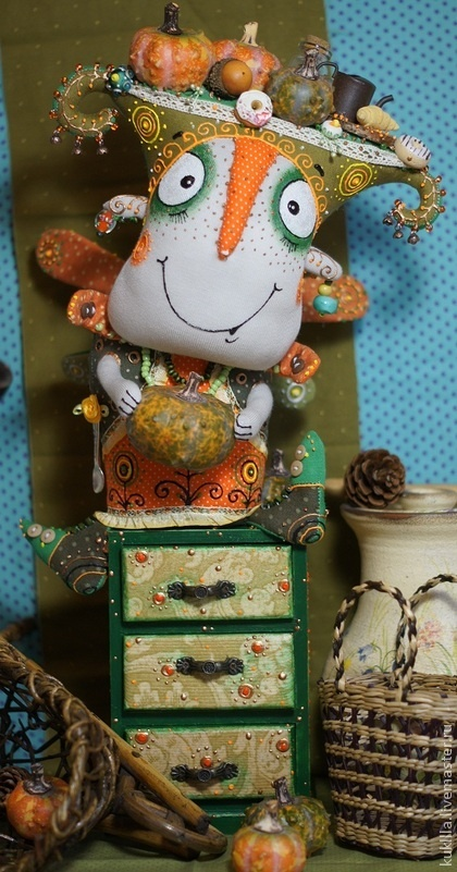 """Коллекционные куклы ручной работы. Ярмарка Мастеров - ручная работа Авторская кукла """"Фея большой тыквы"""". Handmade."""