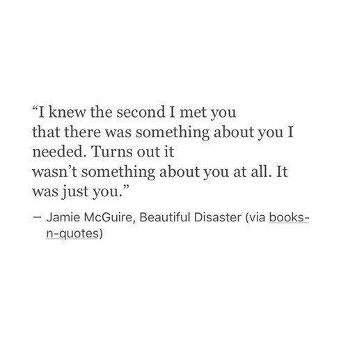 - Я понял в первую секунду моей с тобой встречи, что что-то было в тебе, что мне нужно. Оказывается, это не что-то в тебе. Это была вся ты.