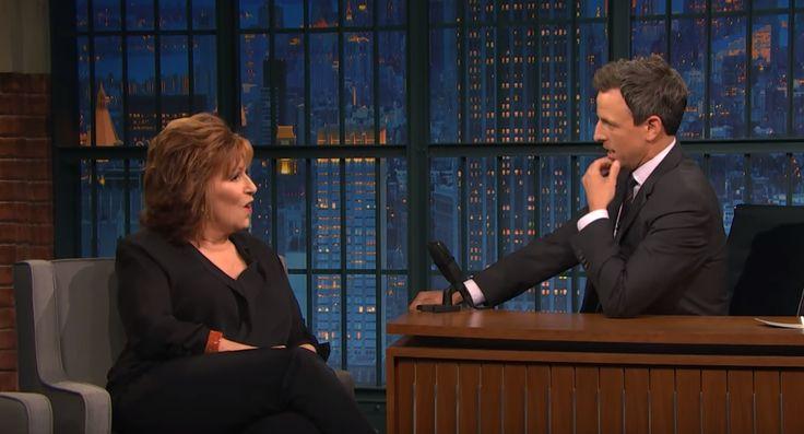 'Trump Hates Me:' The View's Joy Behar Tells Seth Meyers How the President Takes Jokes About His Hair