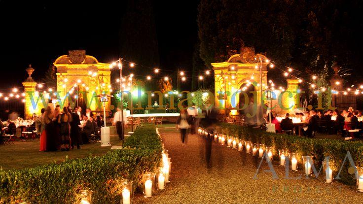 ALMA PROJECT @ Villa di Geggiano - bulbs lighting - garden - 272