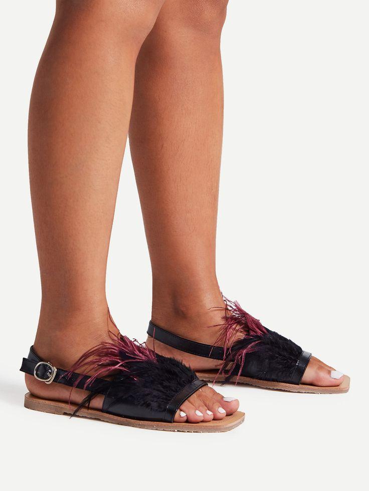 Shop Faux Fur Decorated Flat Sandals online. SheIn offers Faux Fur Decorated Flat Sandals & more to fit your fashionable needs.