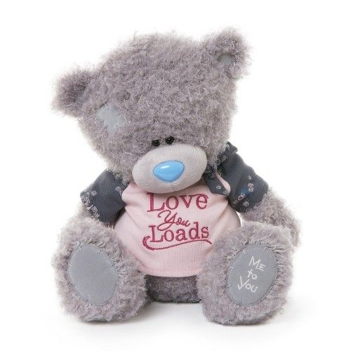 Tatty Teddy Me To You 11-inch Wearing A Love You Loads T-Shirt Bear Available @ Li'l Treasures $52. (International Shipping available)