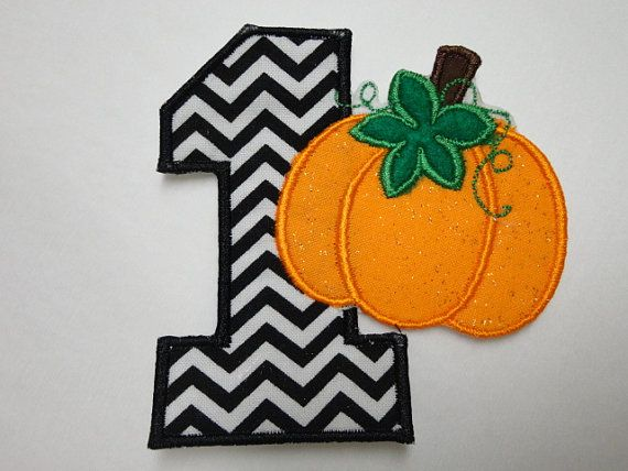 Number One Pumpkin Embroidered Iron On Patch by JALittleSparkle, $5.95