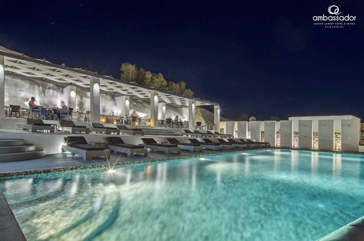 Relax by the pool and admire the infinite blue of the Aegean from the most privileged location of the island!