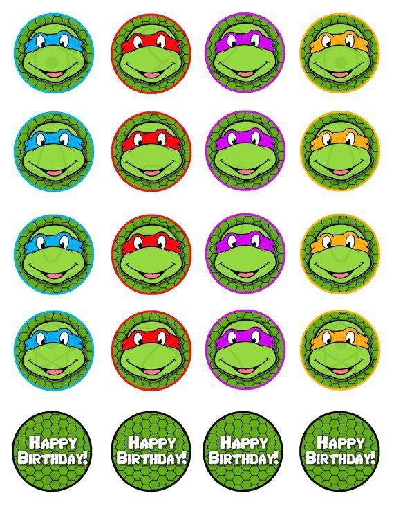 Днем рождения, картинки на день рождения в стиле черепашек ниндзя