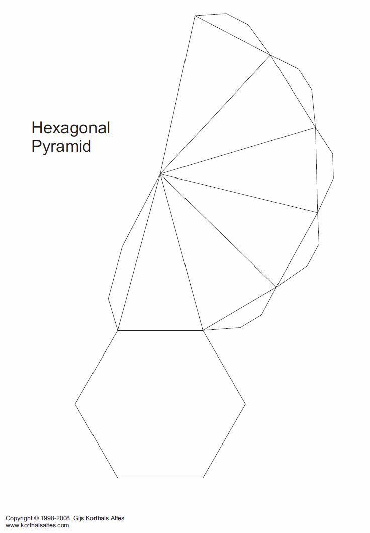 Net Hexagonal Pyramid Work It Prisma Hexagonal Sobres