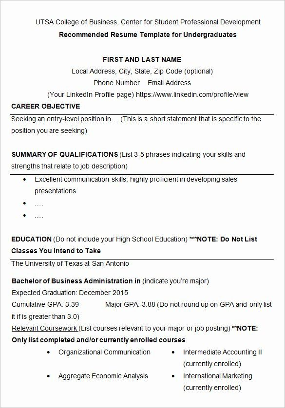 College Freshman Resume Template Inspirational 24 Best Student Sample Resume Templat In 2020 College Application Resume Sample Resume Templates College Resume Template