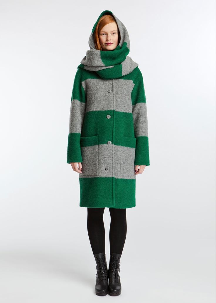 marimekko / Huppelus -I want this coat so bad! Finnish Design at its finest. <3