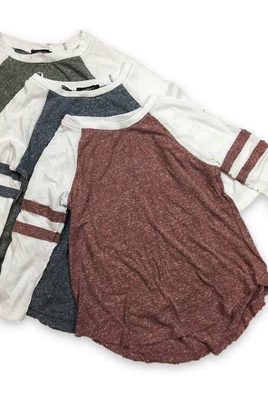 Dear stitch fix, i like the look of a baseball tee. Would be nice a cozy for casual wear.