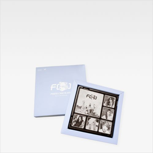 "Brand. ""More Than Chocolate"" describes all designs including photo by 100% chocolate only Using contrast ratio of white chocolate on dark chocolate. Customer. ""Fx"" from SM entertainment"