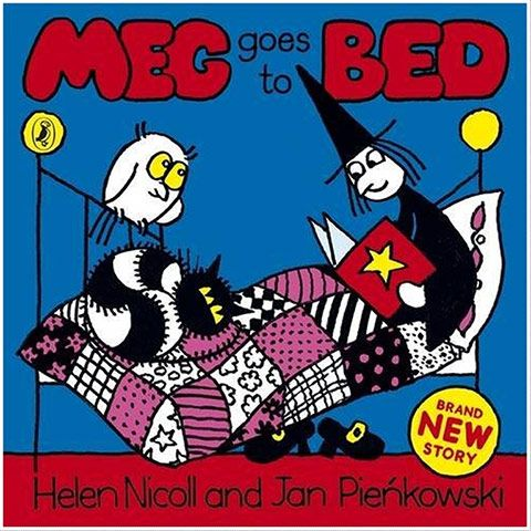 Meg and Mog gallery: Meg and Mog goes to bed book cover