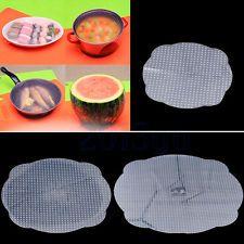 3 tapas de almacenamiento de vacío de silicona Placa Plato Comida Fresca Elástico Sellador Cubierta Cojín Cg