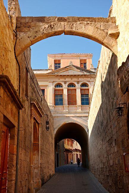 Street of medieval Rhodes, Greece, UNESCO World Heritage Site