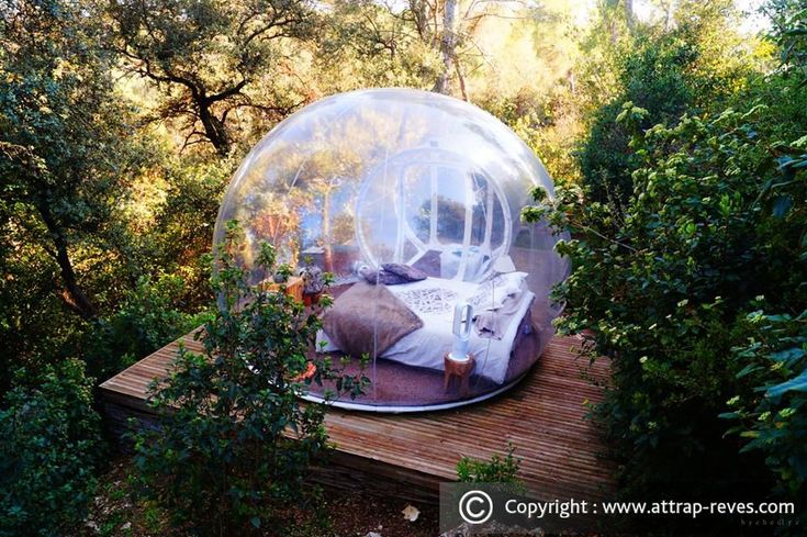 Sleep in the Attrap'Rêves Love Nature bubble
