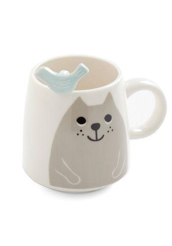 Cat and Grouse Mug Set