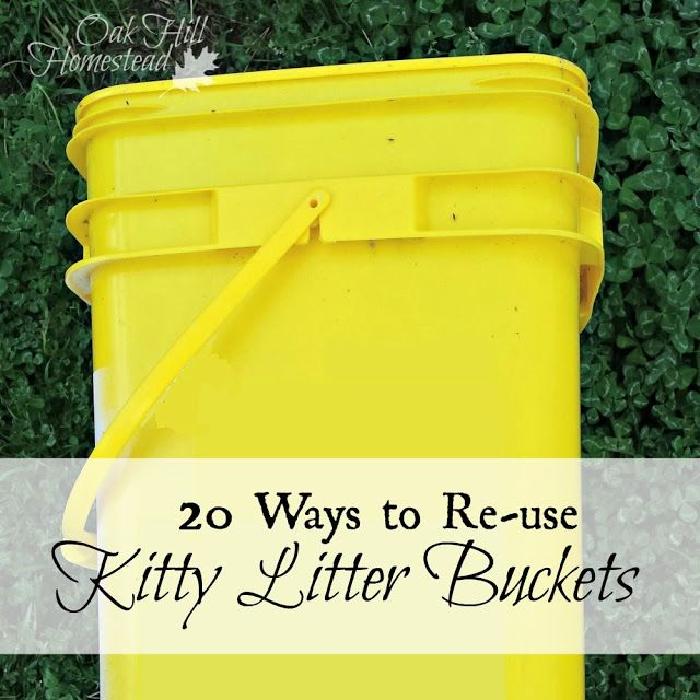 Featured on Tuesdays with a Twist 3/29/16 by Oak Hill Homestead: http://www.oakhillhomestead.com/2016/03/20-ways-to-re-use-kitty-litter-buckets.html