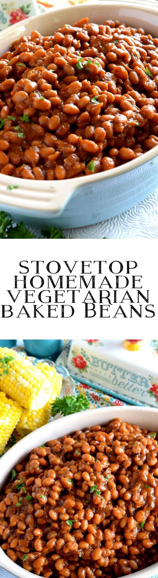 Who says Homemade Baked Beans needs to have bacon?  And who says they need to be baked?  Stovetop Homemade Vegetarian Baked Beans are fast, cheap, and easy – and nobody will notice the missing pork product! I love baked beans.…
