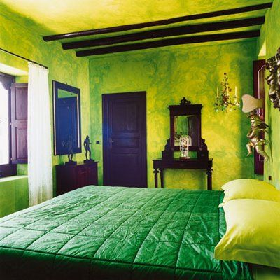 Love This Neon Green Bedroom. The Faux Finish Is Great!