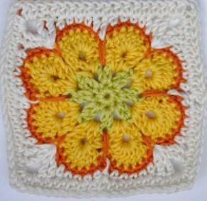 Fleur africaine - le carré