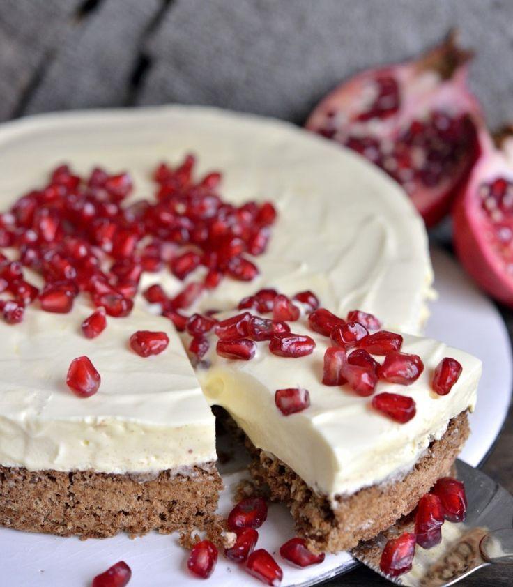 julekake / witte chocolade mousse taart / white chocolate cake #recept #recipe #chocolade