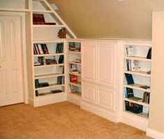 built in attic drawers desk - Google Search