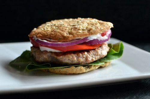 Mettende og sunt hamburgerbrød uten behov heving! (Bakekona)