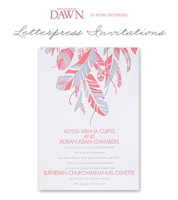 Letterpress Wedding Stationery by Invitations by Dawn   25% Off Code!